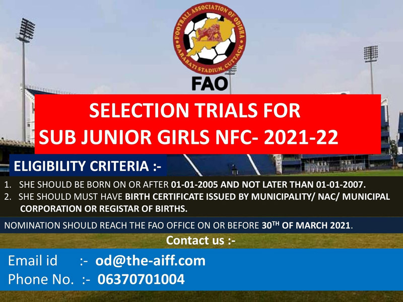 Girls Trials for Sub Junior Nationals, Odisha