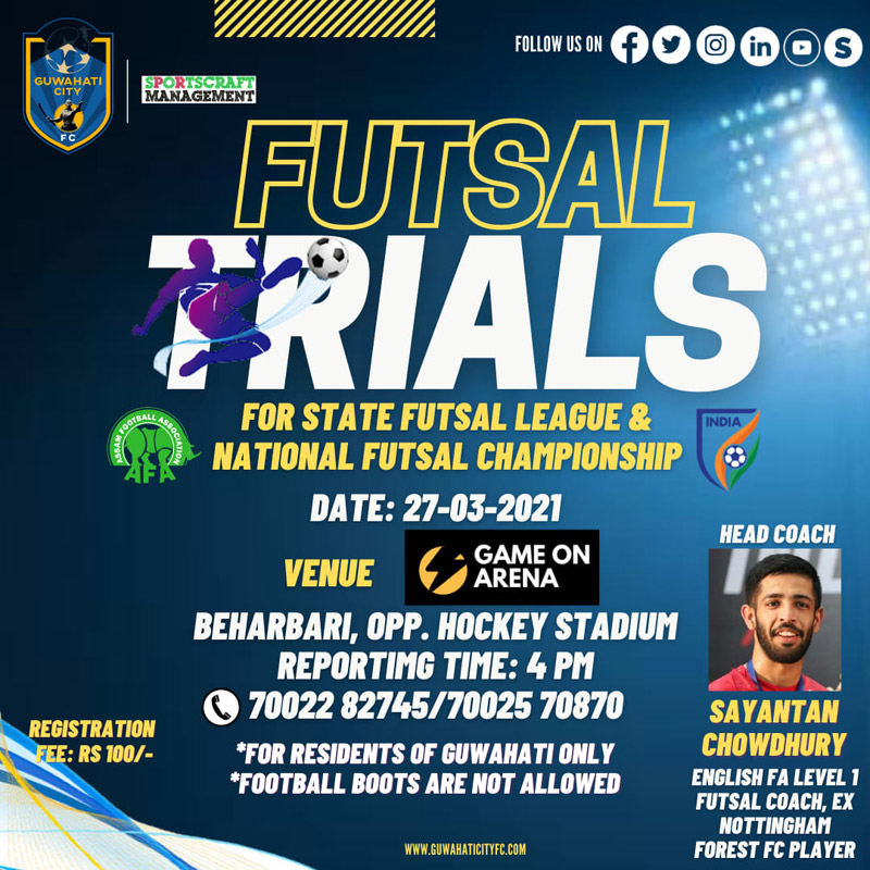 Guwahati City FC Futsal Trials