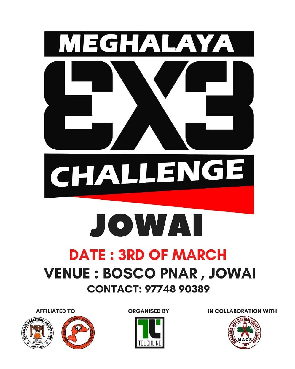 Basketball: Meghalaya 3X3 Challenge.