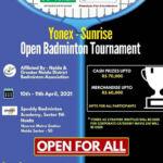Open Badminton Tournament at Noida