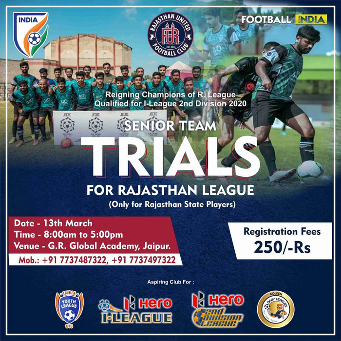 Rajasthan United FC Trials at Jaipur