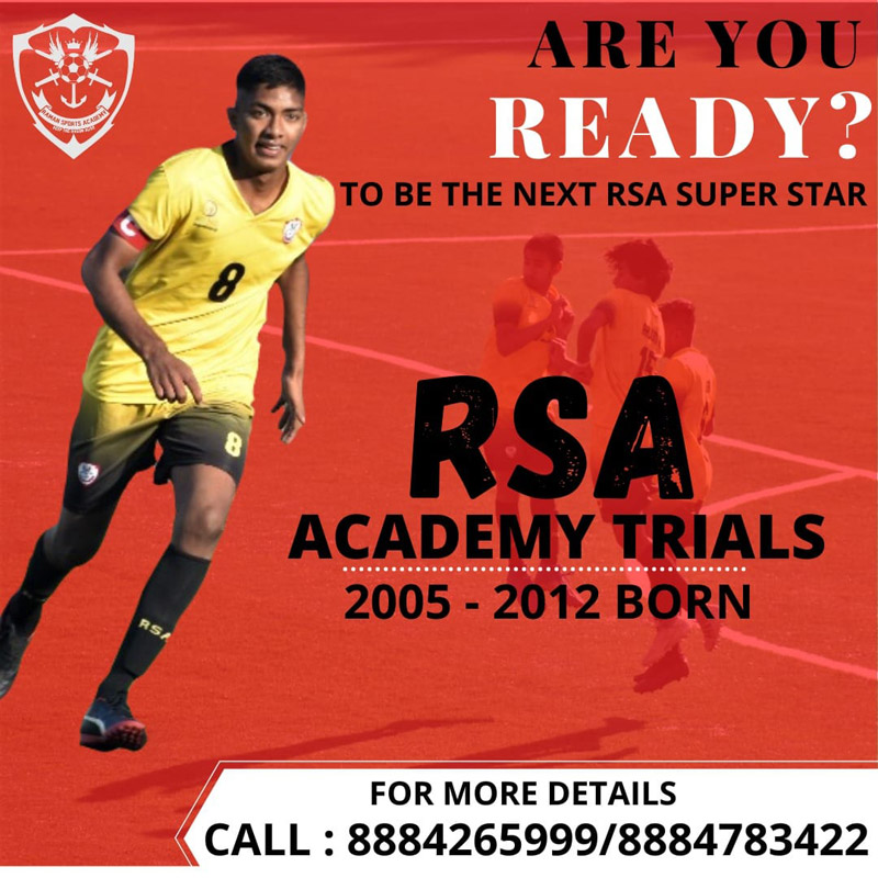 Raman Sports Academy Trials, Bengaluru