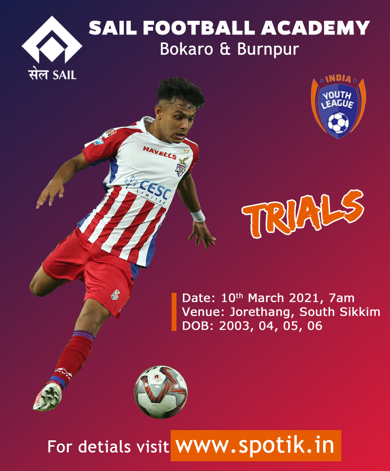 SAIL Football Academy Sikkim Trials