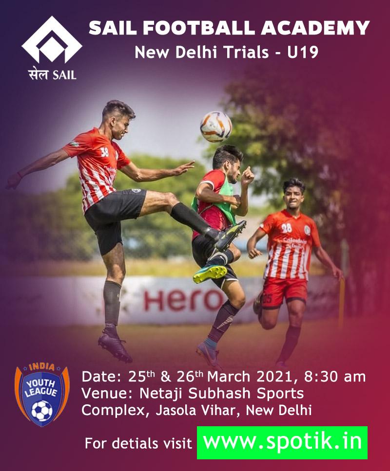 SAIL Football Academy, New Delhi Trials