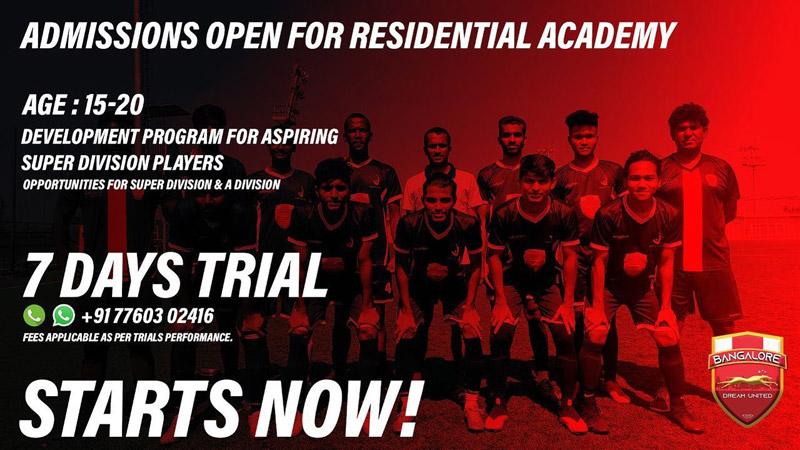 Dream United BDFA Super div Trials, Bengaluru