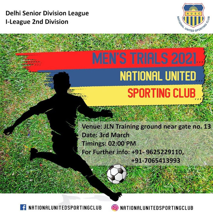 National United Sporting Club Trials, New Delhi
