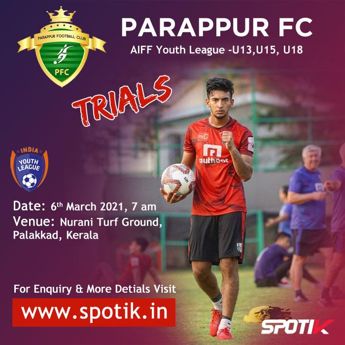 Parappur FC - Palakkad Trials, Kerala