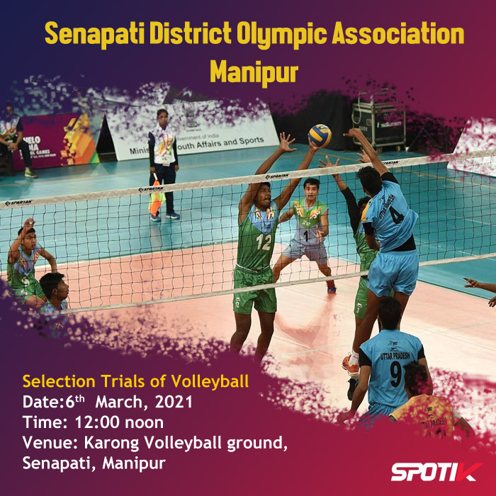 Volleyball Selection Trials at Senapati, Manipur