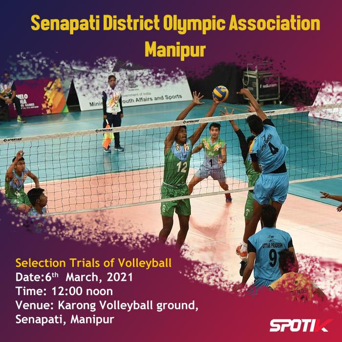 Volleyball Selection Trials at Senapati, Manipur