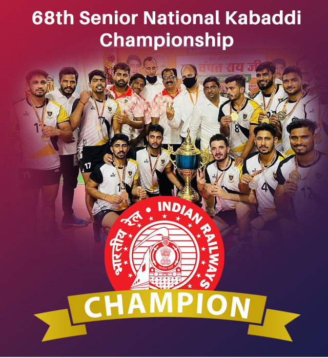 Indian Railways won 68th Senior National Men's Kabaddi Championship 2021
