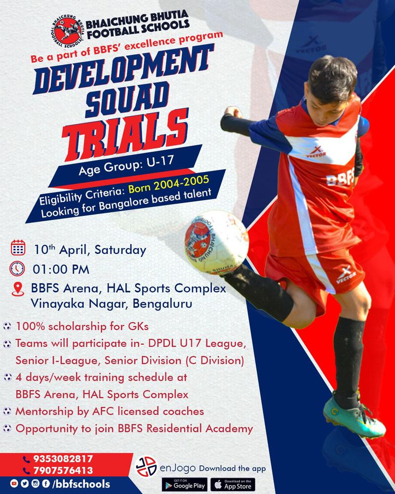 Bhaichung Bhutia Football Schools Bengaluru Trials