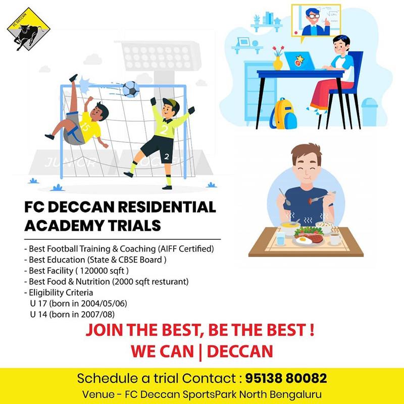 FC DECCAN Residential Academy Trials