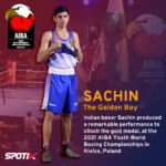 Sachin won gold in Youth World Championships
