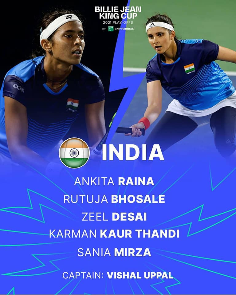 India to face Latvia in maiden Billie Jean King Cup play-offs in Jurmala