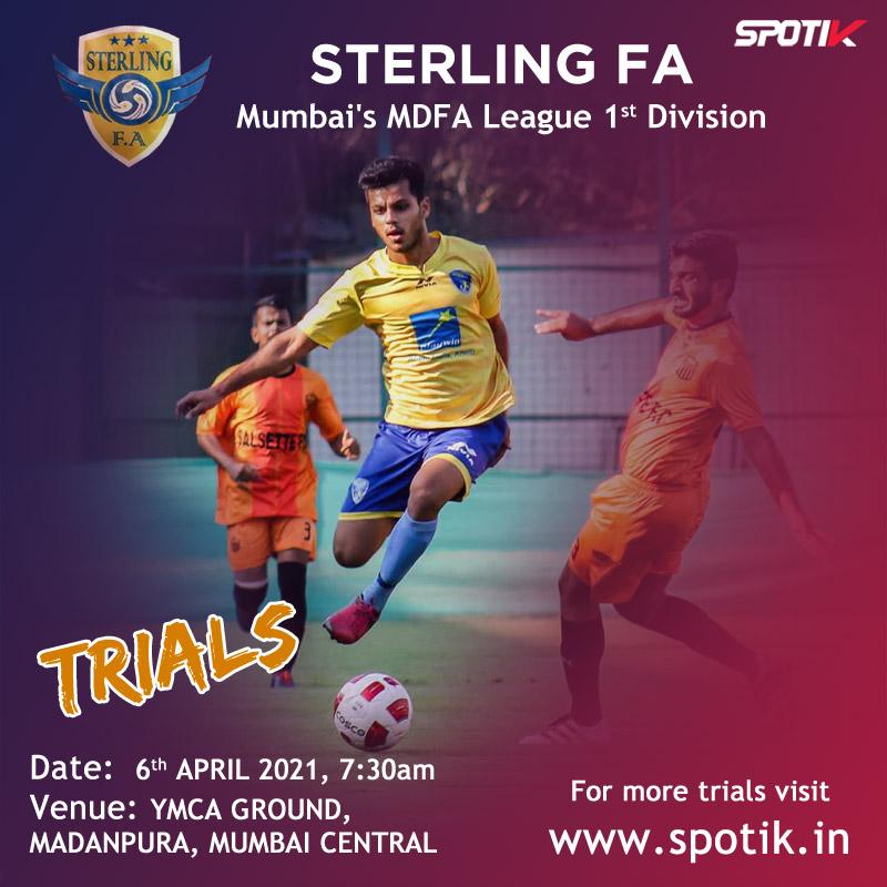Sterling Football Academy Trials, Mumbai