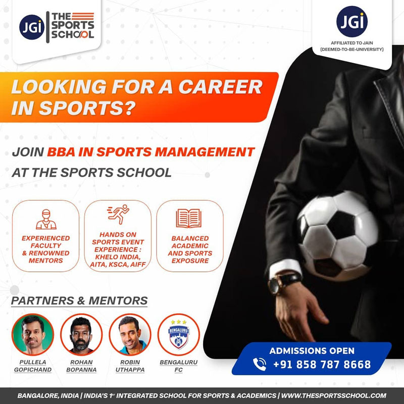 The Sports School's BBA in Sports Management program.