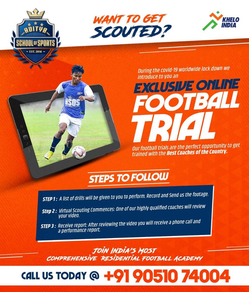 Aditya School of Sports Online Trials.