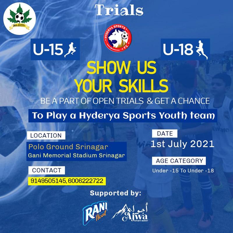 Hyderya Sports FC Trials, Srinagar