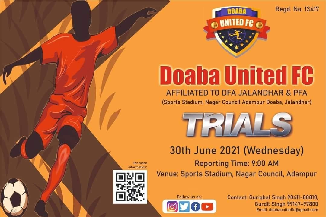 Doaba United FC Trials, Jalandhar