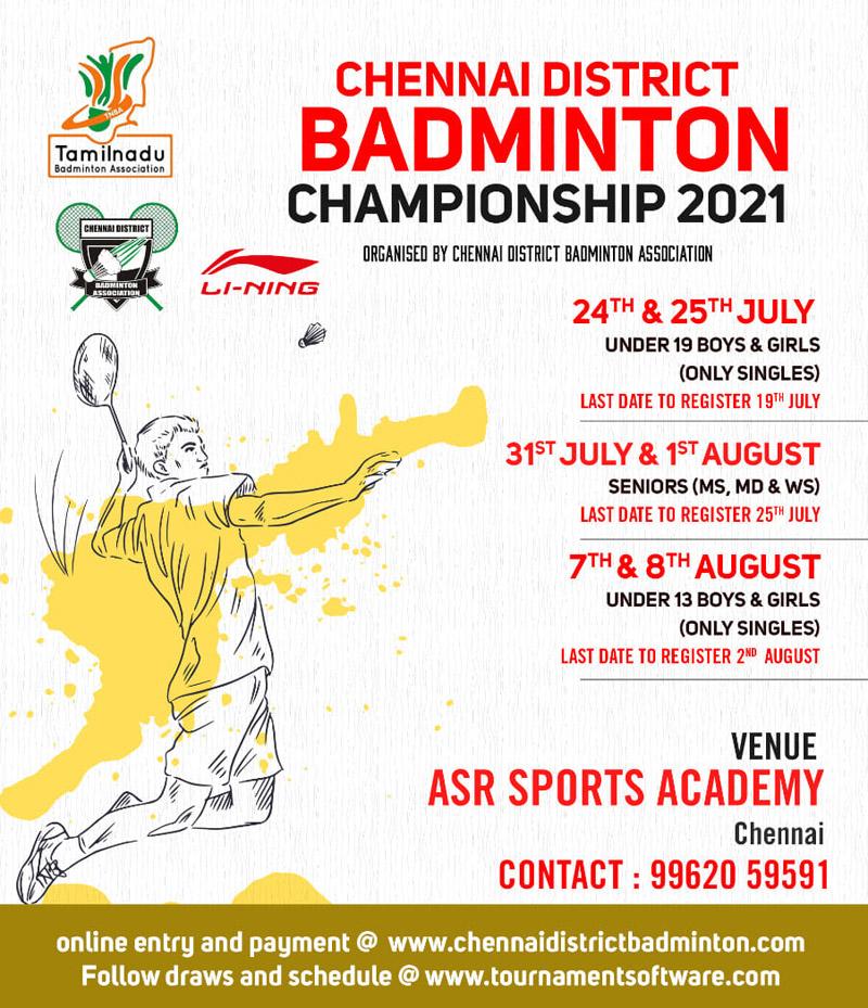 Chennai District Badminton Championship 2021