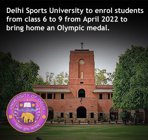 Delhi Sports University to enrol students from class 6 to 9 from April 2022