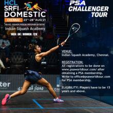 Squash: HCL SRFI Domestic Tournament, Chennai