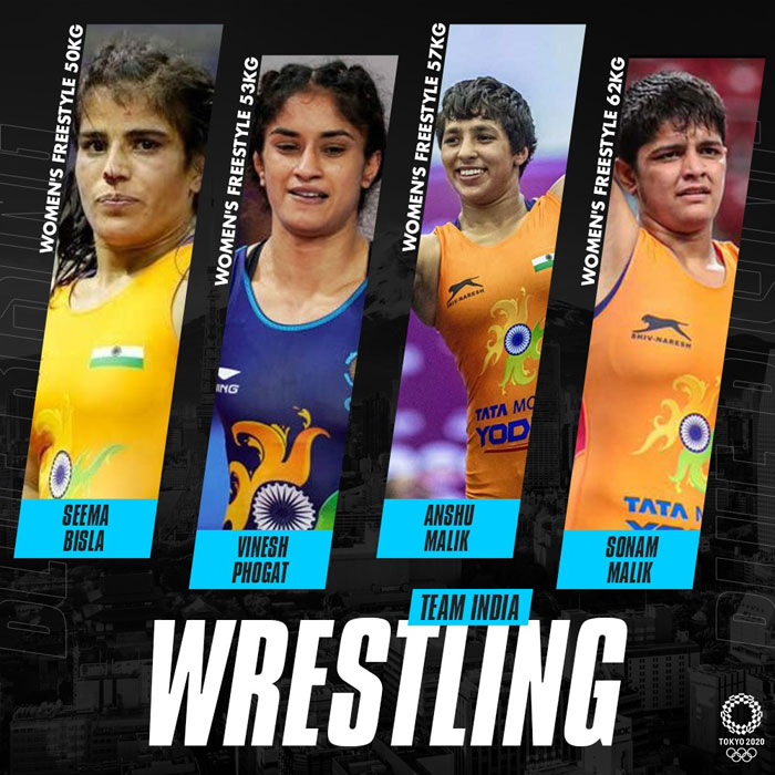 Indian wrestlers at Tokyo Olympics   Women's Freestyle