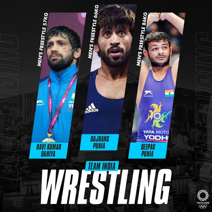 Indian wrestlers at Tokyo Olympics