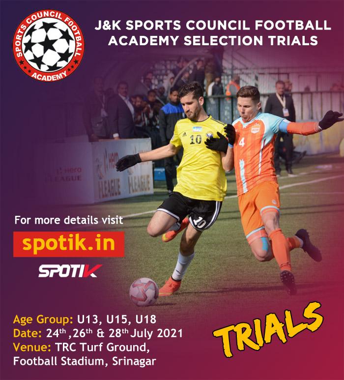 J&K Sports Council Football Academy Selection Trials
