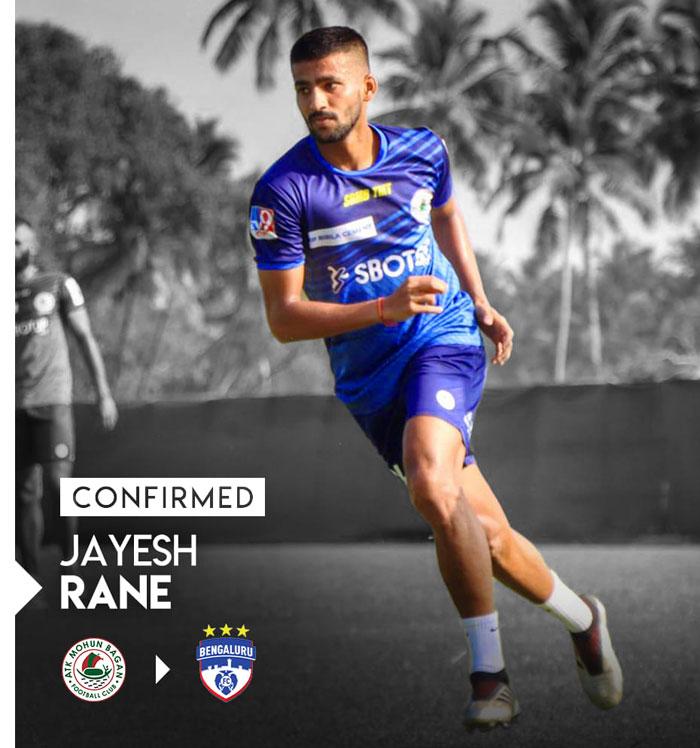 Bengaluru FC sign midfielder Jayesh Rane on three-year deal