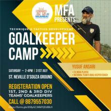 Mumbai Football Association Goalkeeper Camp.