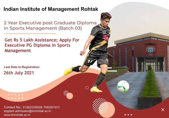 The EPGDSM programme is conducted by Indian Institute of Management