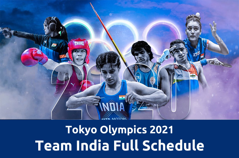 Tokyo Olympics 2021, India Full Schedule: Events, Time Table, Fixtures, Live Broadcast Details