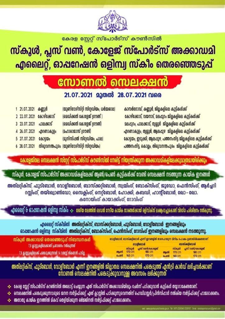Kerala Kabaddi Sports Hostel Selection Trials 2021-22