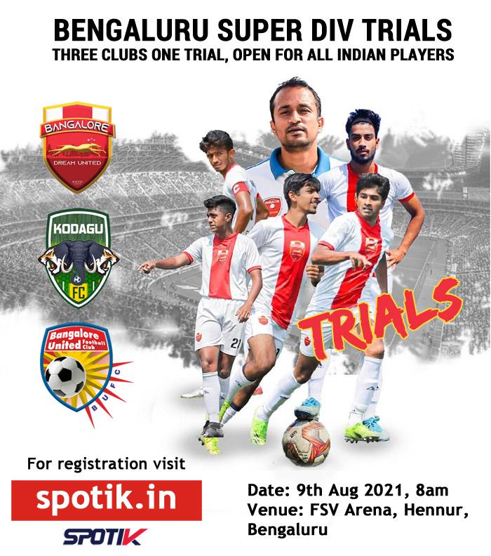 Bengaluru Super Division Football Trials