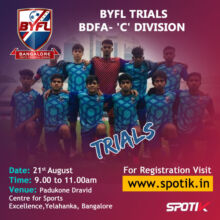 Bangalore Youth Football League Trials