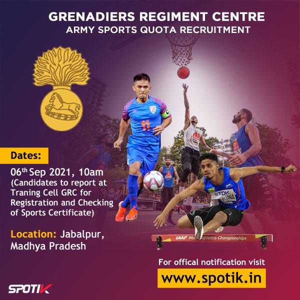 Grenadiers Regiment Centre, Army Sports Quota Trials