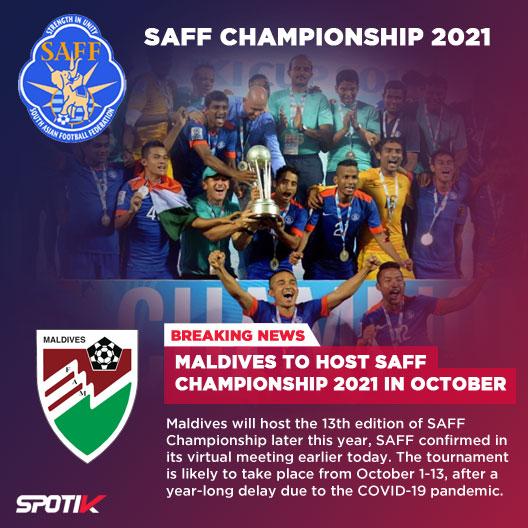 Maldives to host SAFF Championship 2021 in October