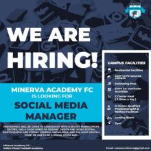 Minerva Football Academy Hiring Social Media Manager.