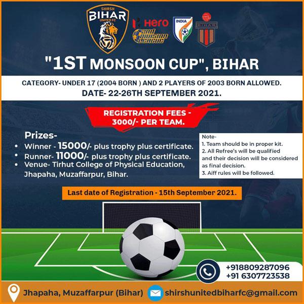 Shirsh Bihar United FC - Monsoon Cup, Bihar