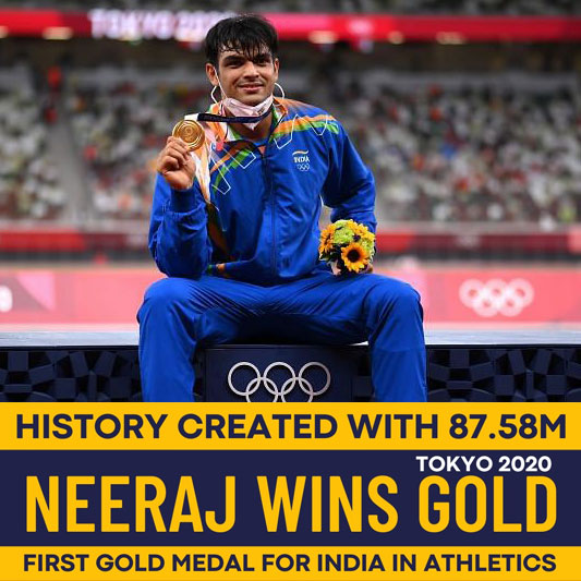 Neeraj Chopra creates history, wins India's first ever athletics gold medal in Olympics