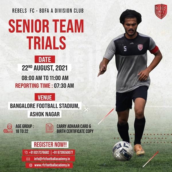 Rebels FC Bengaluru A-div Trials