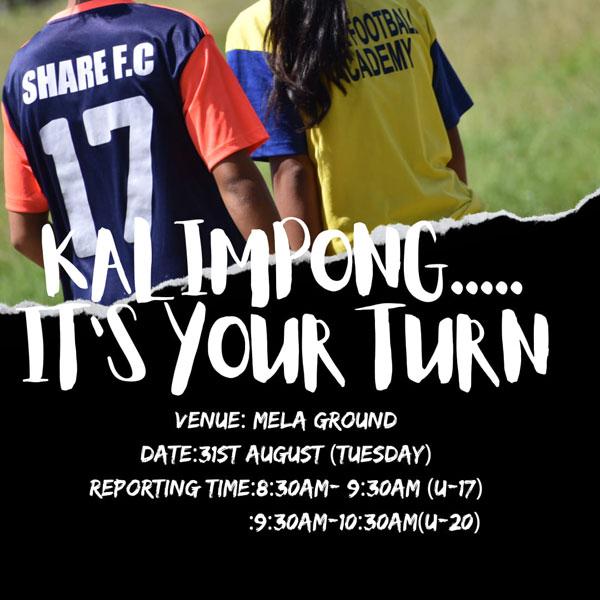 Share FC Girls Academy Trials, Kalimpong
