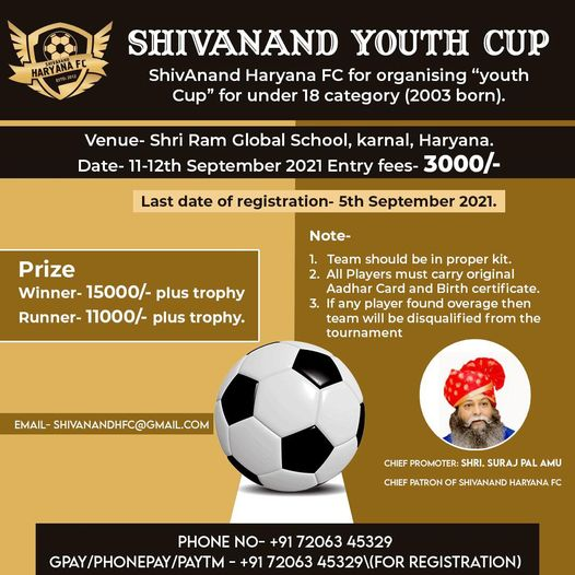 ShivAnand FC Youth Cup, Haryana