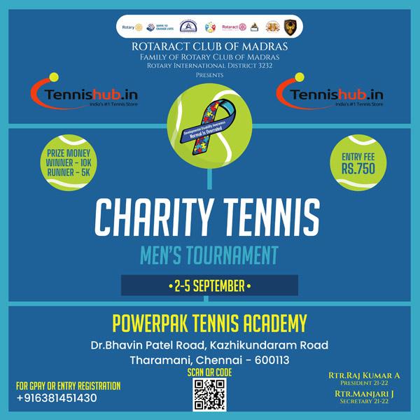 Tennis men's ranking tournament in Chennai.