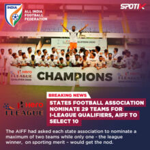 29 Football Clubs nominated for I-League Qualifiers, AIFF to select 10 Clubs.
