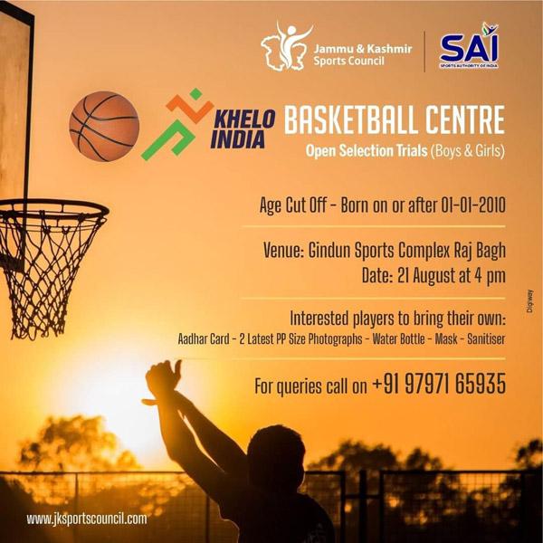 Khelo India Basketball Selection Trials - Kashmir