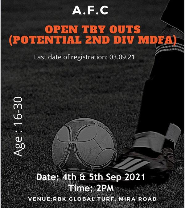 AFC Football Club, Mumbai Trials