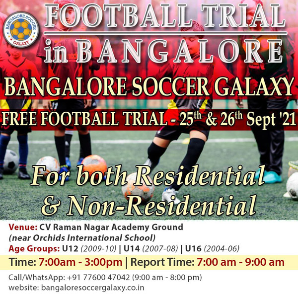 Bangalore Soccer Galaxy Trials