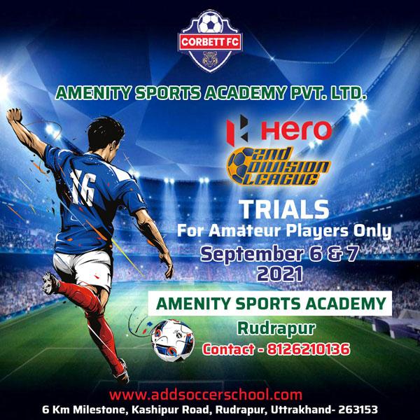 Corbett FC Senior Team Trials, Uttarakhand